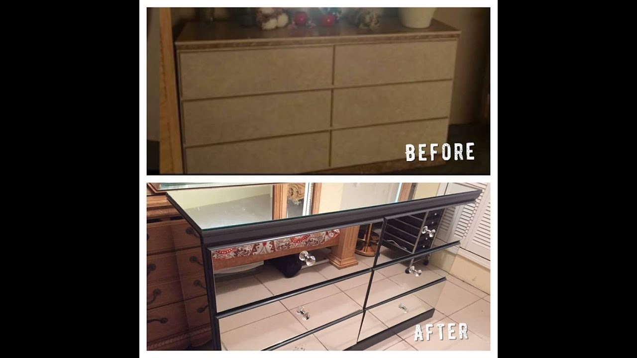 how to make mirrored furniture. Exellent Make DIY Mirrored Dresser To How Make Furniture R