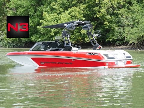 2020 Nautique GS20 -Victory Red- On Water