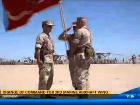 CBS 8 coverage of 3rd Marine Aircraft Wing change of command ceremony