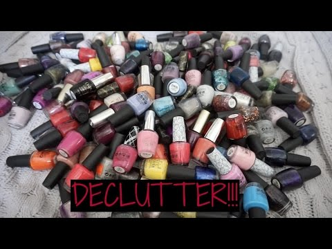 MASSIVE Nail Polish Declutter!! See My OPI Collection!!