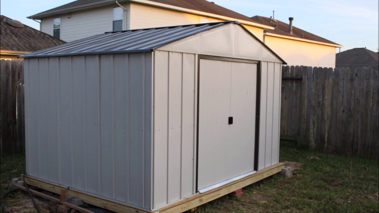 Arrow 10 X 8 Tool Shed Build Youtube