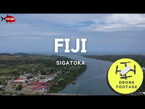 Fiji Travel - Sigatoka Town Drone Footage