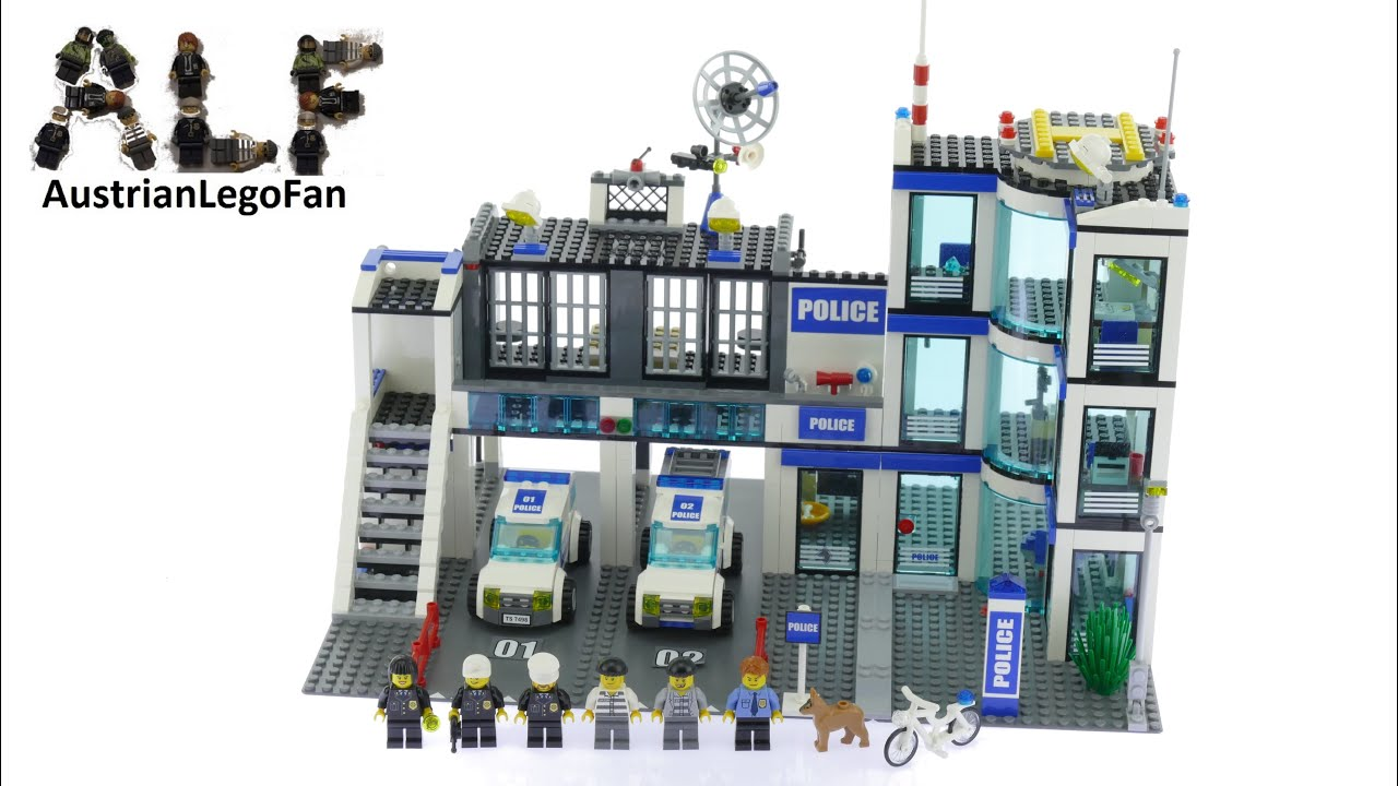 Lego City 7498 Police Station Lego Speed Build Review Youtube