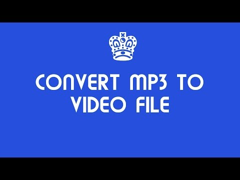How to convert mp3 files to video online