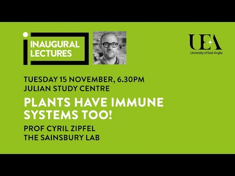 Inaugural Lectures: Plants have immune systems too! | University of East Anglia (UEA)