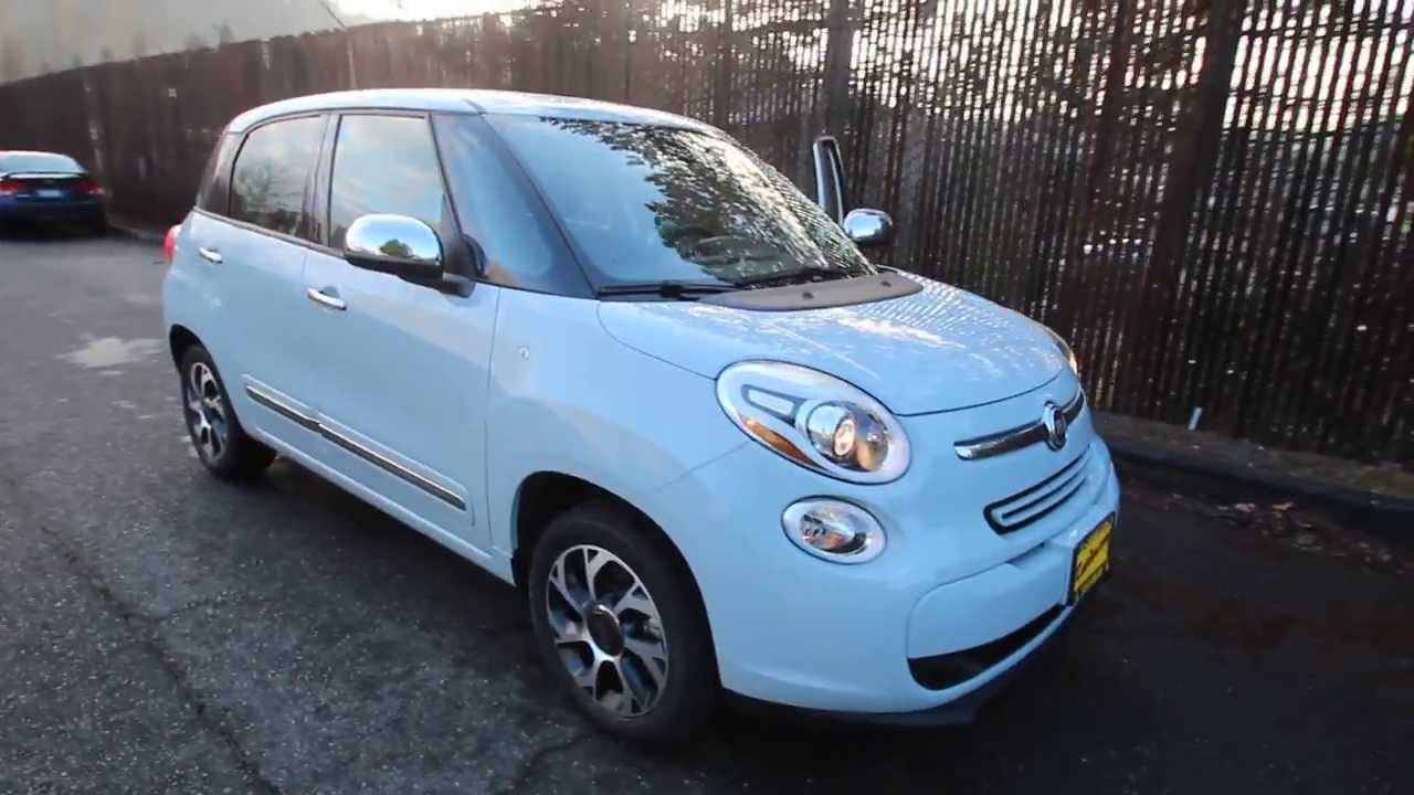 2014 fiat 500l lounge light blue ez013069 redmond seattle youtube. Black Bedroom Furniture Sets. Home Design Ideas