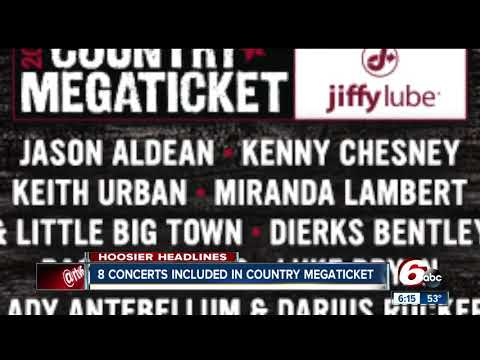 Country Megaticket sales for 8 concerts at Ruoff Home Mortgage Music Center begin Friday