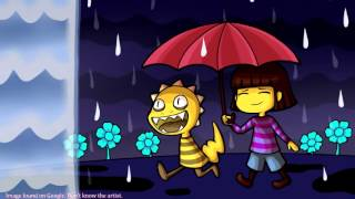 10 hours of waterfall by toby fox undertale rainy mood