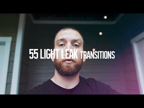 55 Light Leak Transitions | Creative Ryan Pack 2