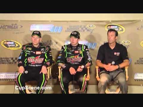 Michigan NASCAR Sprint Cup Series winner Kyle Busch, Dave Rogers, J.D. Gibbs part 2