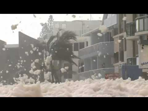 Entire Australian towns submerged under FOUR FEET of sea foam