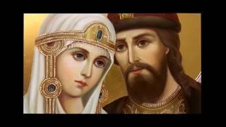 Икона Петр и Феврония масло