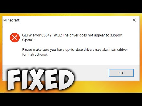 How To Fix Minecraft GLFW Error 65542 WGL The Driver Does Not Appear To Support OpenGL TLauncher