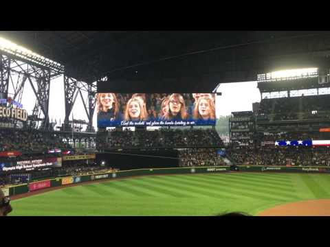 Olympia High School Symphonic Choir singing at Mariners game 5/27/16