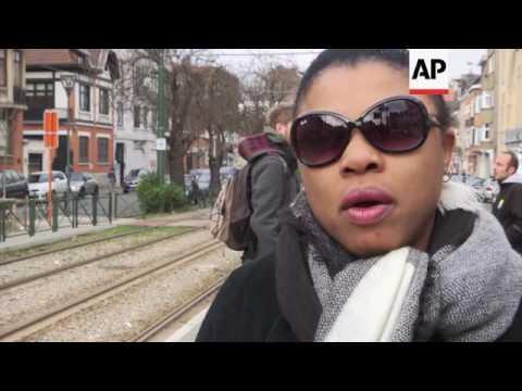 Belgium district reax, day after tramstop arrest