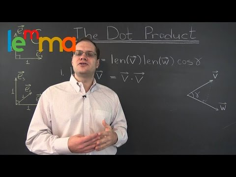 Linear Algebra 20g: The Dot Product - One of the Most Brilliant Ideas in All of Linear Algebra