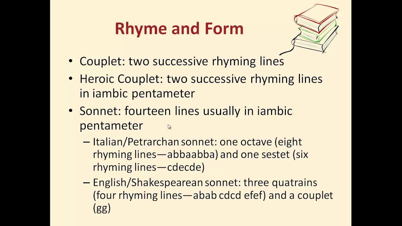 Studying Form, Rhythm and Meter, and Rhyme - YouTube