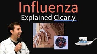influenza flu explained clearly diagnosis vaccine treatment pathology