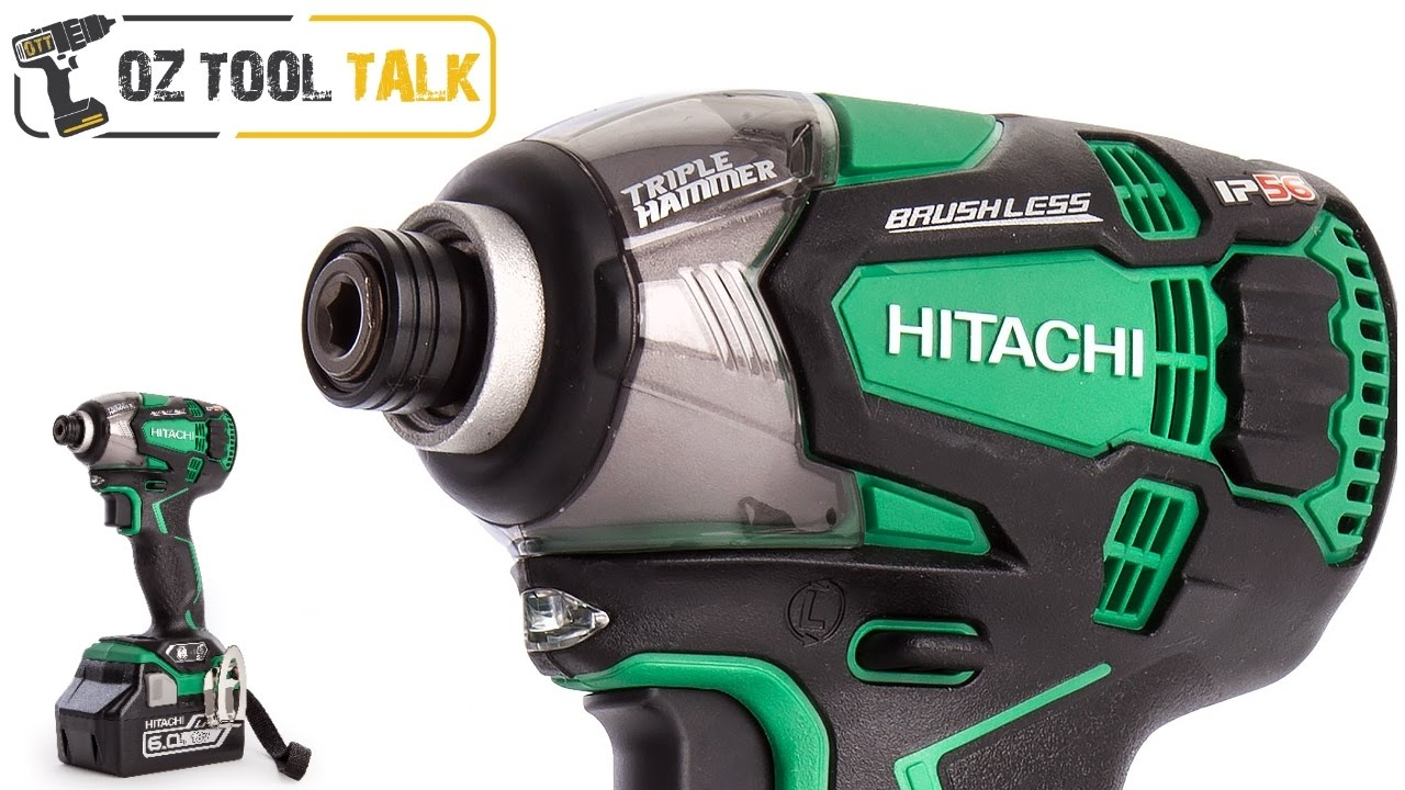 Hitachi Triple Hammer Impact Driver 18v Ip56 Brushless Wh18dbdl2