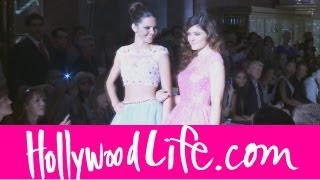 Kendall & Kylie Jenner New York Fashion Week Walking In Sherri Hill Show