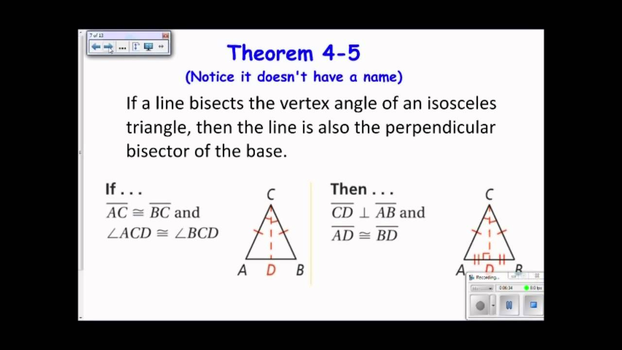4-5 Isosceles and Equilateral Triangles 2013