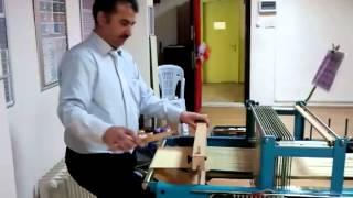 Armürlü Kumaş Dokuma ve Tasarım Makinası (weaving loom and design machine with an armure)