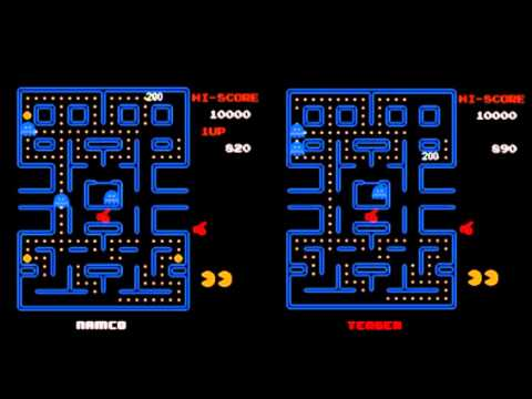 Pac-Man Tengen Vs. Namco Comparison