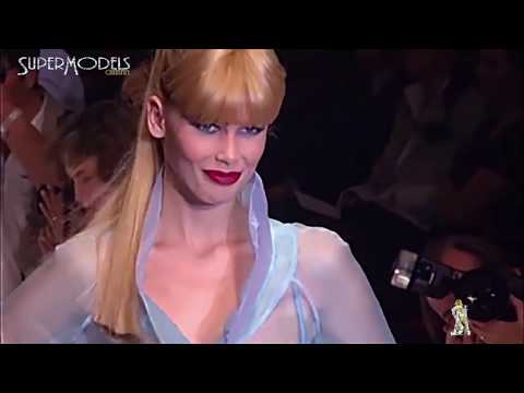 Claudia Schiffer Best Moments on Catwalk 1990  2000 part 2 by Supermodels Channel