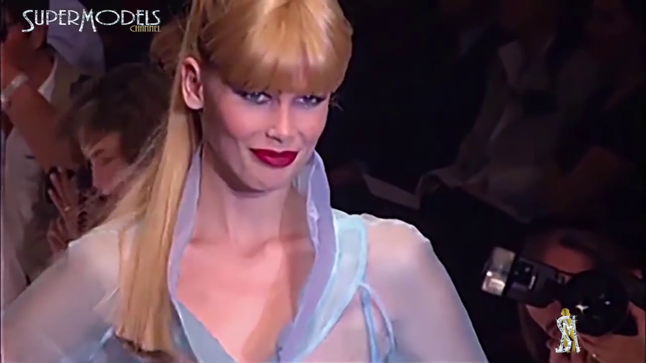 57ff9347f86bd0 Claudia Schiffer Best Moments on Catwalk 1990 - 2000 part 2 by Supermodels  Channel