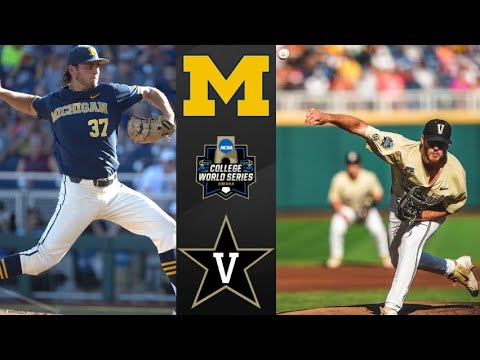 Michigan Vs 2 Vanderbilt Game 3 College World Series Final College Baseball Highlights