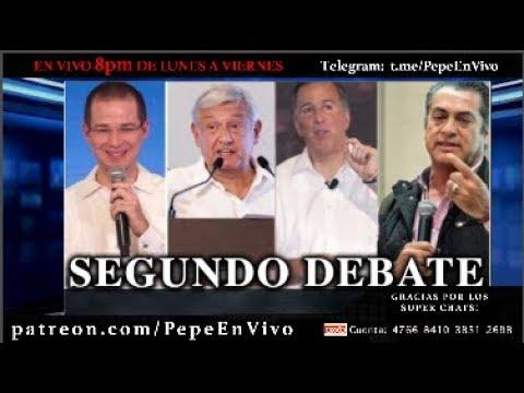 EL SEGUNDO DEBATE A LAS ELECCIONES PRESIDENCIALES 2018