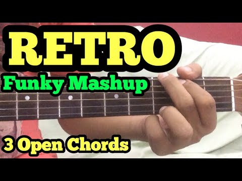 Funky Retro Mashup Guitar Lesson | 3 Open Chords | Old/Classical Bollywood Songs on Guitar