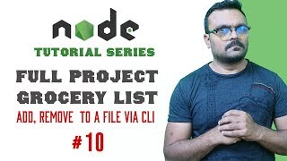 Node.js project grocery list | add remove records from file via cli  | Part 10 Node Tutorials