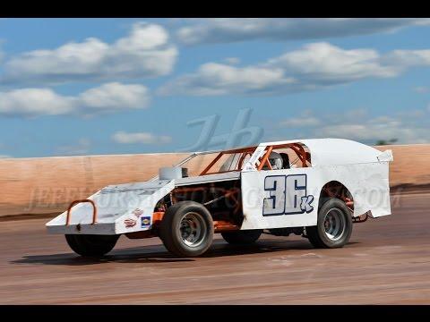 Skyline Speedway 5-7-2017 AMRA Modified qualifying Keith Bills, Mike Hurley Motorsports Team SE