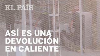 Así es la DEVOLUCIÓN EN CALIENTE de un inmigrante en Ceuta