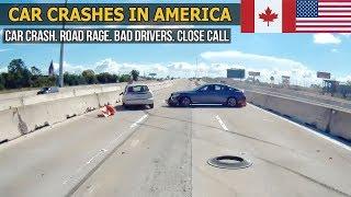 Car Crashes in America (USA & Canada) bad drivers, Road Rage 2018 # 25