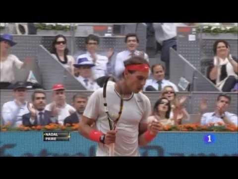 Rafa Nadal vs. Benoit Paire 6-3 y 6-4 en 2ª ronda del Mutua Madrid Open