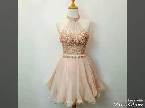 039b61fc0 اجمل فستان قصير في العالم - YouTube