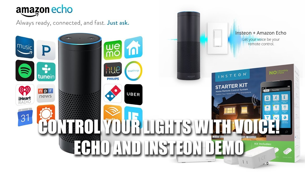 Turn Lights ON/OFF w/Your Voice! Amazon Echo & Insteon Demo - YouTube