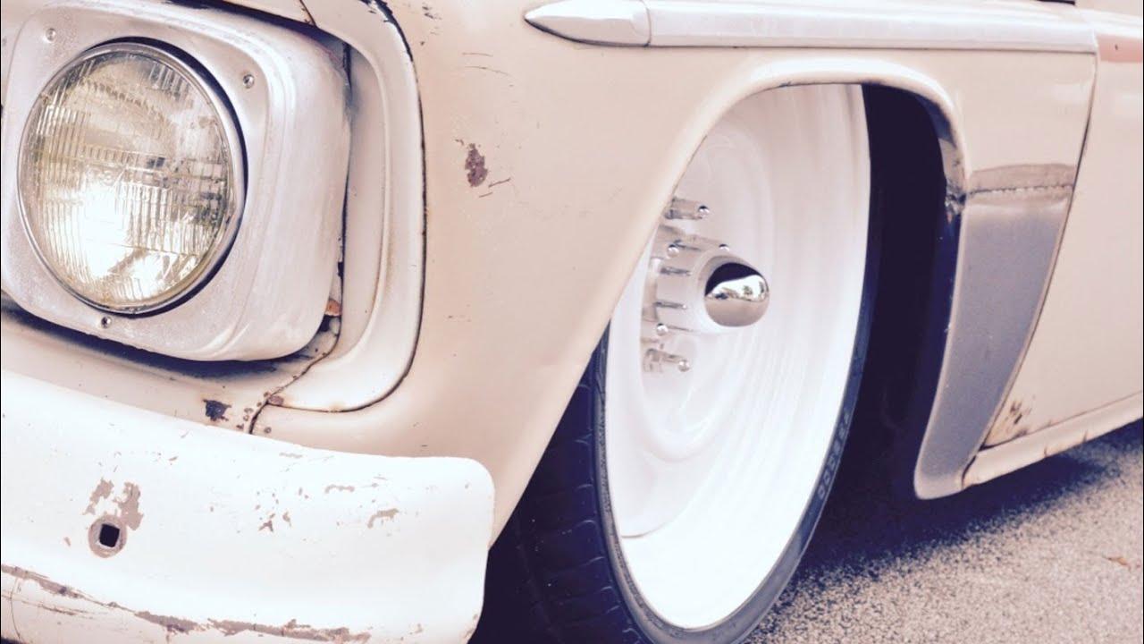 Chevy C-10 wheel collar dress-up kit installation - YouTube