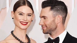 Adam Levine Shares Topless Pregnancy Portrait of Wife Behati Prinsloo: 'YOWZA'