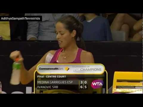 Ana Ivanovic Funny moment - Sits in the wrong chair