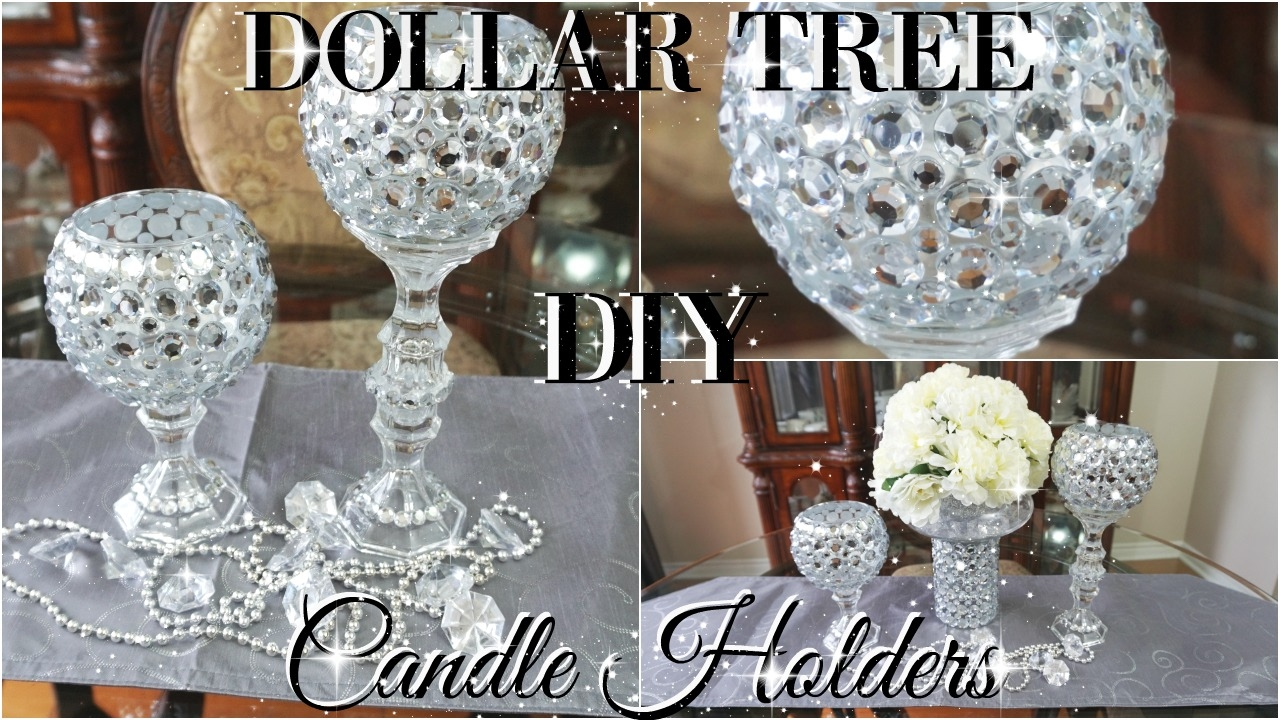 diy dollar tree bling candle holders 2017 petalisbless youtube - Diy Candle Holders