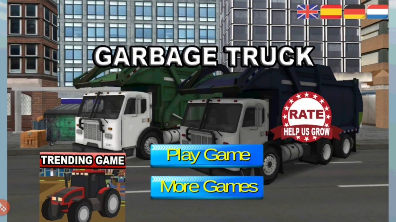 road garbage dump truck driver hd youtube