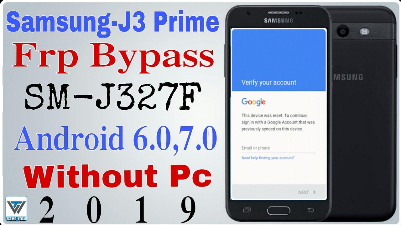 Samsung J3 Prime Frp Bypass without pc|SM-J327F android 6 0, 7 0 Google  Bypass Without Pc