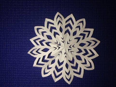 Легкий способ как сделать снежинку (Способ 2) | How to make a Snowflake easily