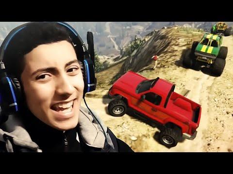 GTA 5 !!! أحمق طلعة جبلية مع الأصدقاء وبزاااااااف
