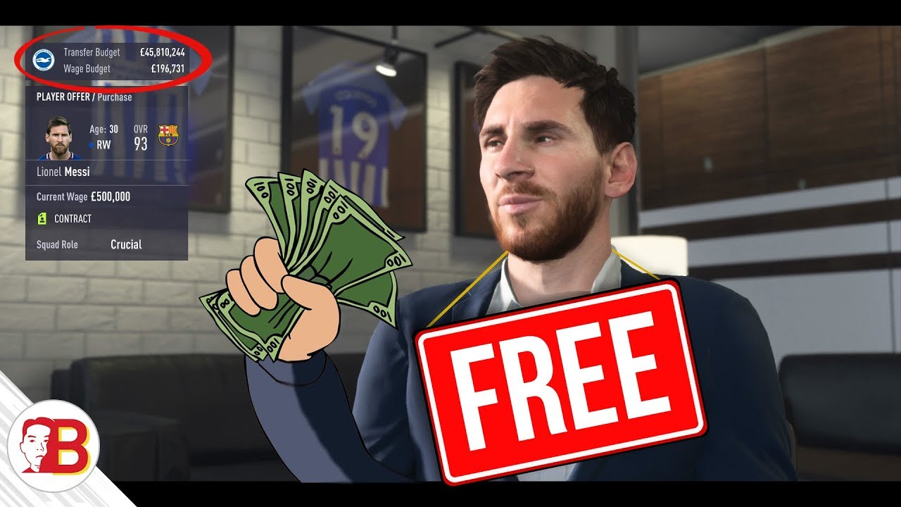 how to sign messi on free transfer in fifa 18 career mode pretty much a free money glitch. Black Bedroom Furniture Sets. Home Design Ideas