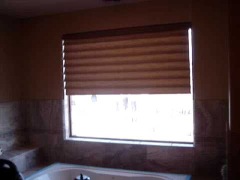 3 Blind Mice Hunter Douglas Battery Motoized Vignette Shades / Blinds in San Diego Bedroom