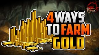 AQ3D 4 Best Ways To Farm GOLD! AdventureQuest 3D